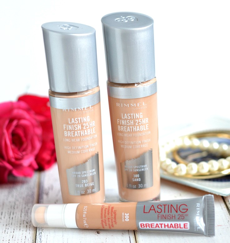 New Rimmel Lasting Finish Breathable Foundation review and swatches