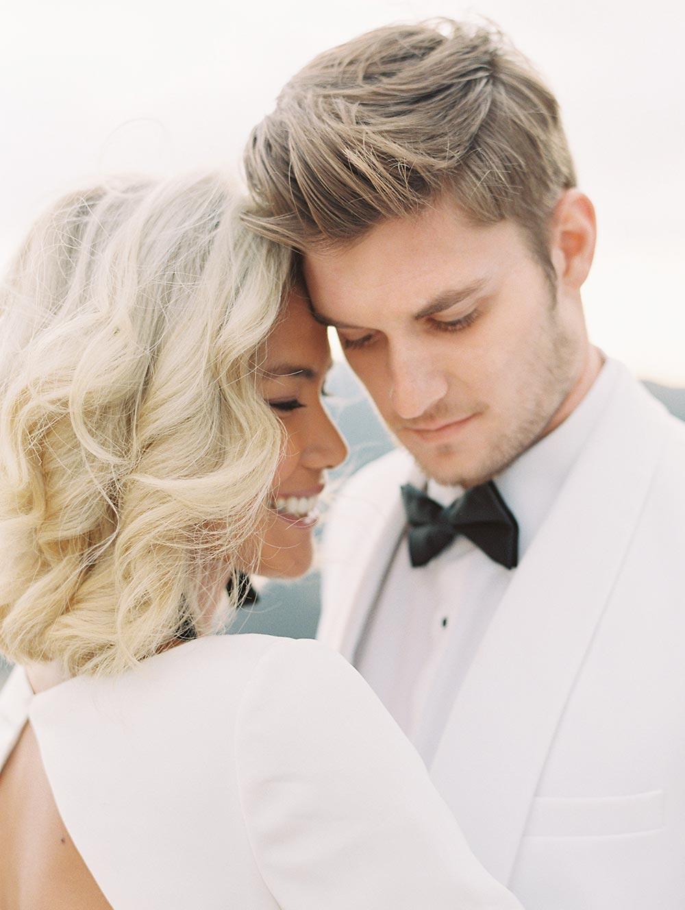 sleek modern wedding fashion