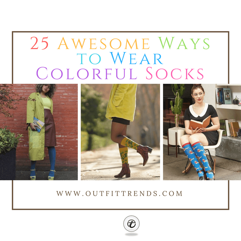 Ways-to-wear-colorful-socks-for-women 25 Ideas How to Wear Funky Colorful Socks for Women
