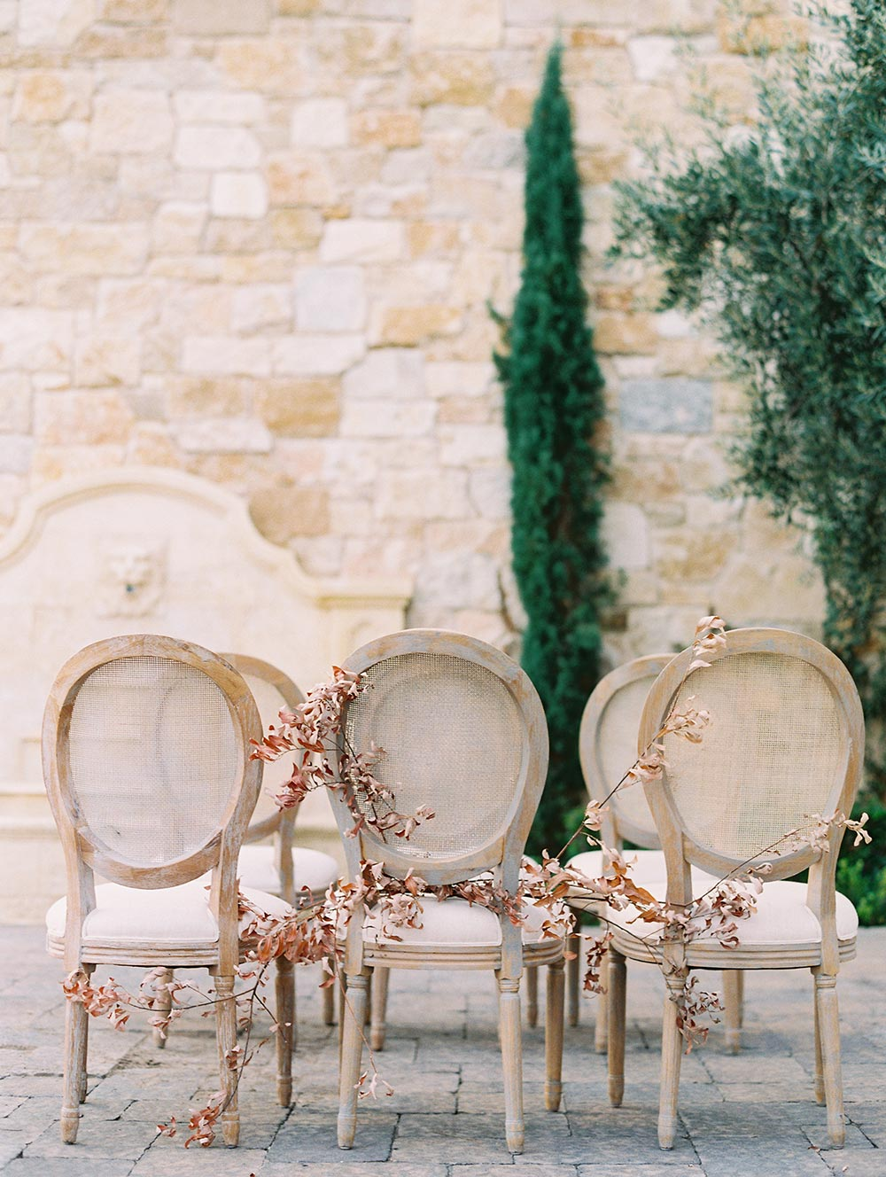 dior chairs wedding ceremony