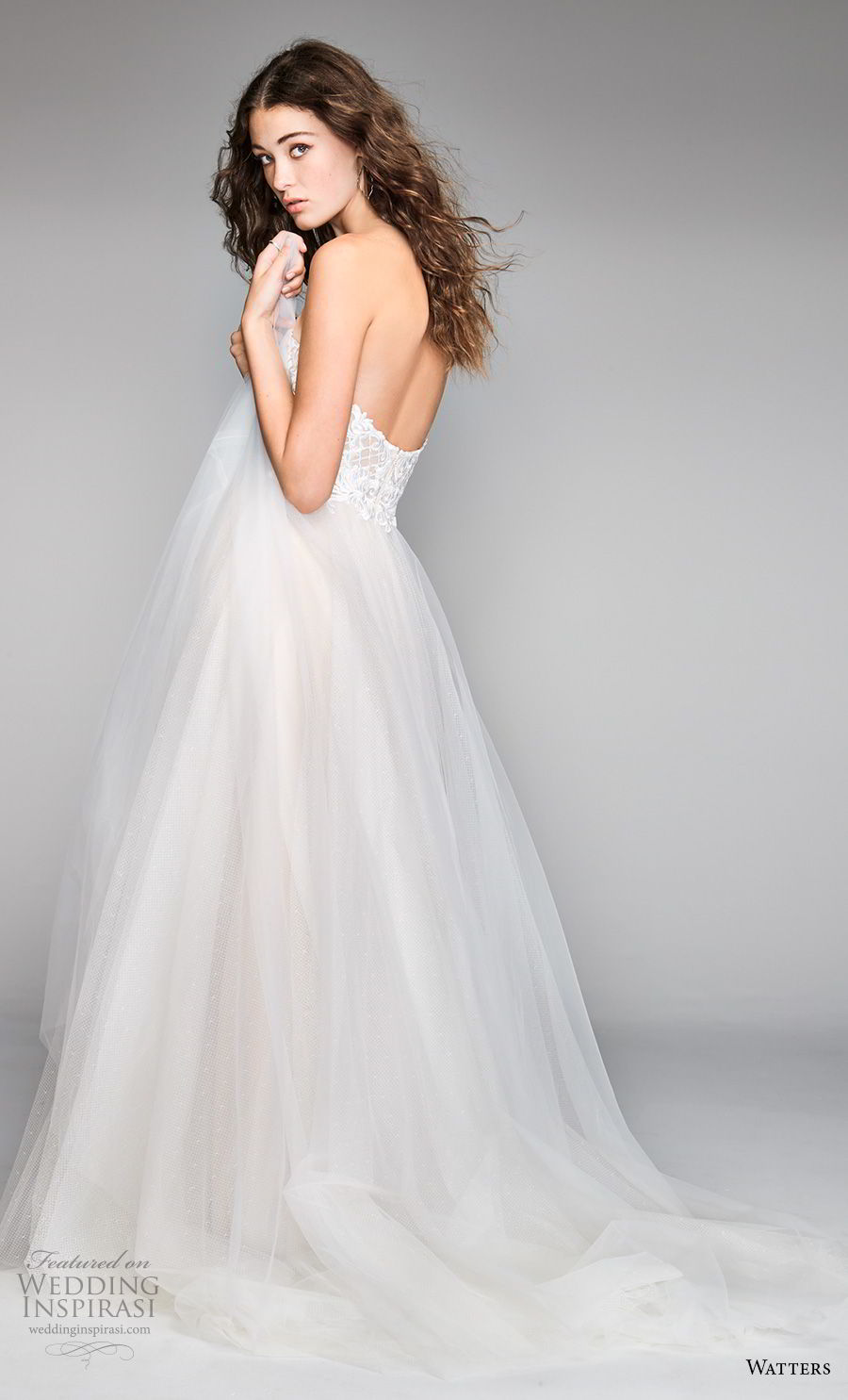 willow by watters spring 2018 strapless sweetheart neckline heavily embellished bodice tulle skirt romantic a line wedding dress sweep train (17) bv