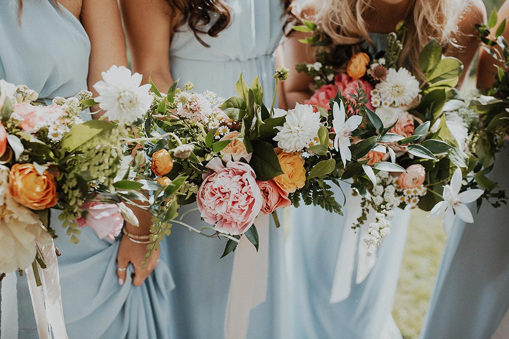 large peony bridesmaid bouquets