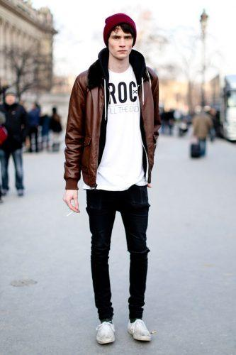 Wear-Leather-Jackets-on-Easter-333x500 21 Cool Easter Outfits for Teen Guys 2018