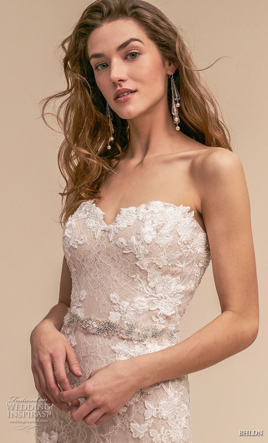 bhldn 2018 whispers bridal strapless sweetheart neckline full embellishment romantic blush mermaid weddinbg dress chapel train (3) zv