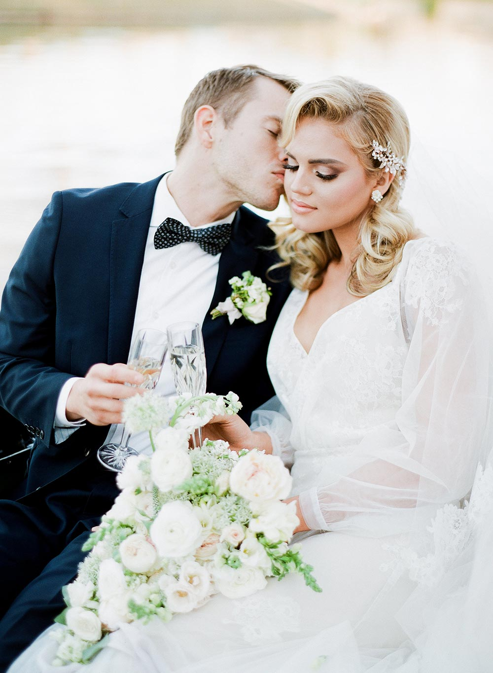 sexy Old Hollywood inspired wedding dress