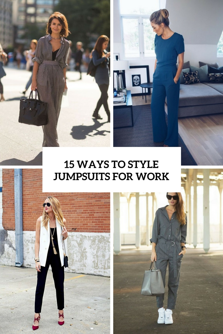 ways to style jumpsuits for work cover