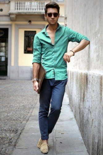 Cuffed-Pants-and-Semi-Casual-Look-334x500 20 Fashionable Easter Outfit Ideas for Men