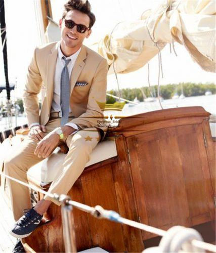 Summer-Khaki-Wedding-Suit-with-Black-Sneakers-427x500 12 Pro Tips for Men-How to Wear Black Shoes With Khaki Pants