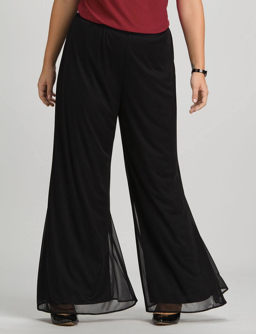 Plus-size-Women-Palazzo-Pants 28 Modern ways to Wear Palazzo Pants with other Outfits