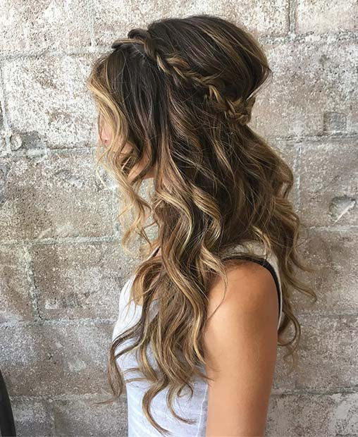Boho Hair with Braids for Wedding Hair Idea