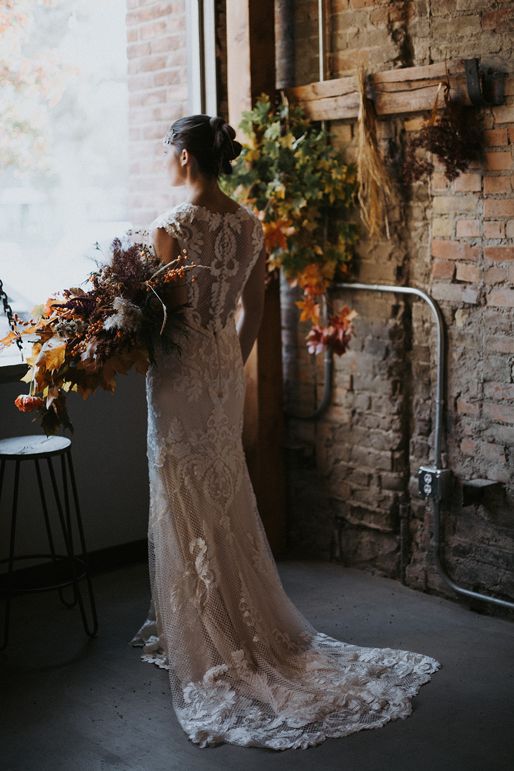 flowy boho wedding dress