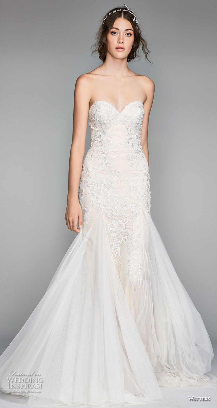 willow by watters spring 2018 strapless sweetheart neckline heavily embellished bodice romantic mermaid wedding dress sweep train (16) mv