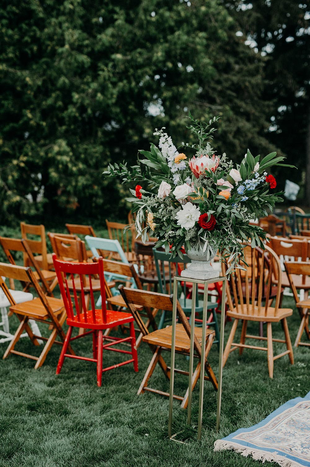 mix and match wedding ceremony chairs