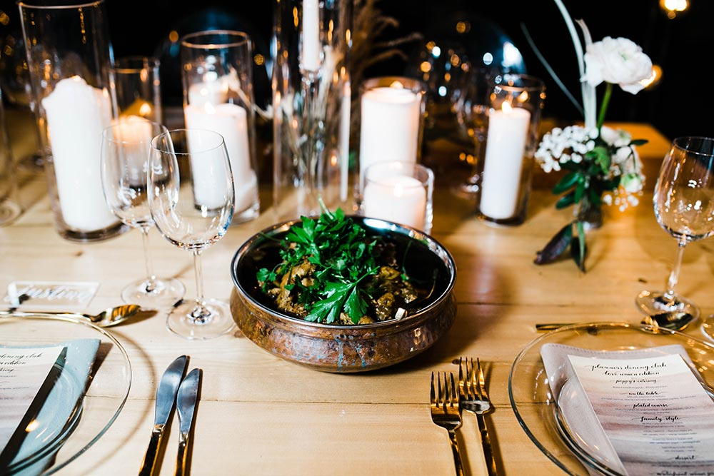 industrial dinner party entree