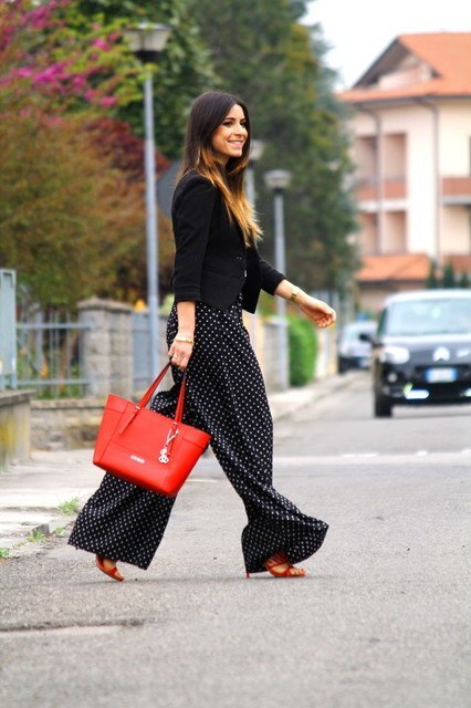 wide-leg-palazzo-pants 28 Modern ways to Wear Palazzo Pants with other Outfits