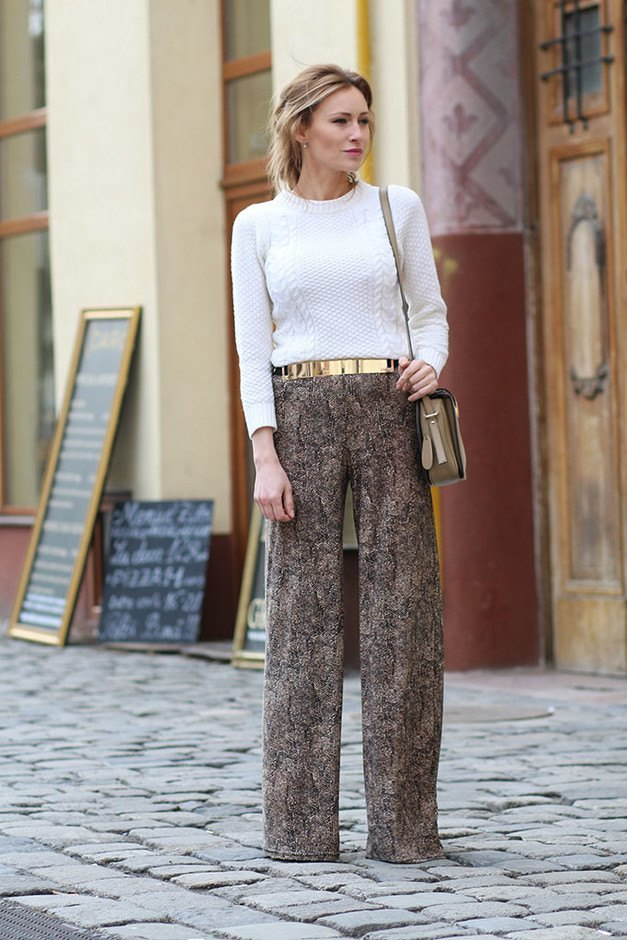 formal-palazzo-pants 28 Modern ways to Wear Palazzo Pants with other Outfits