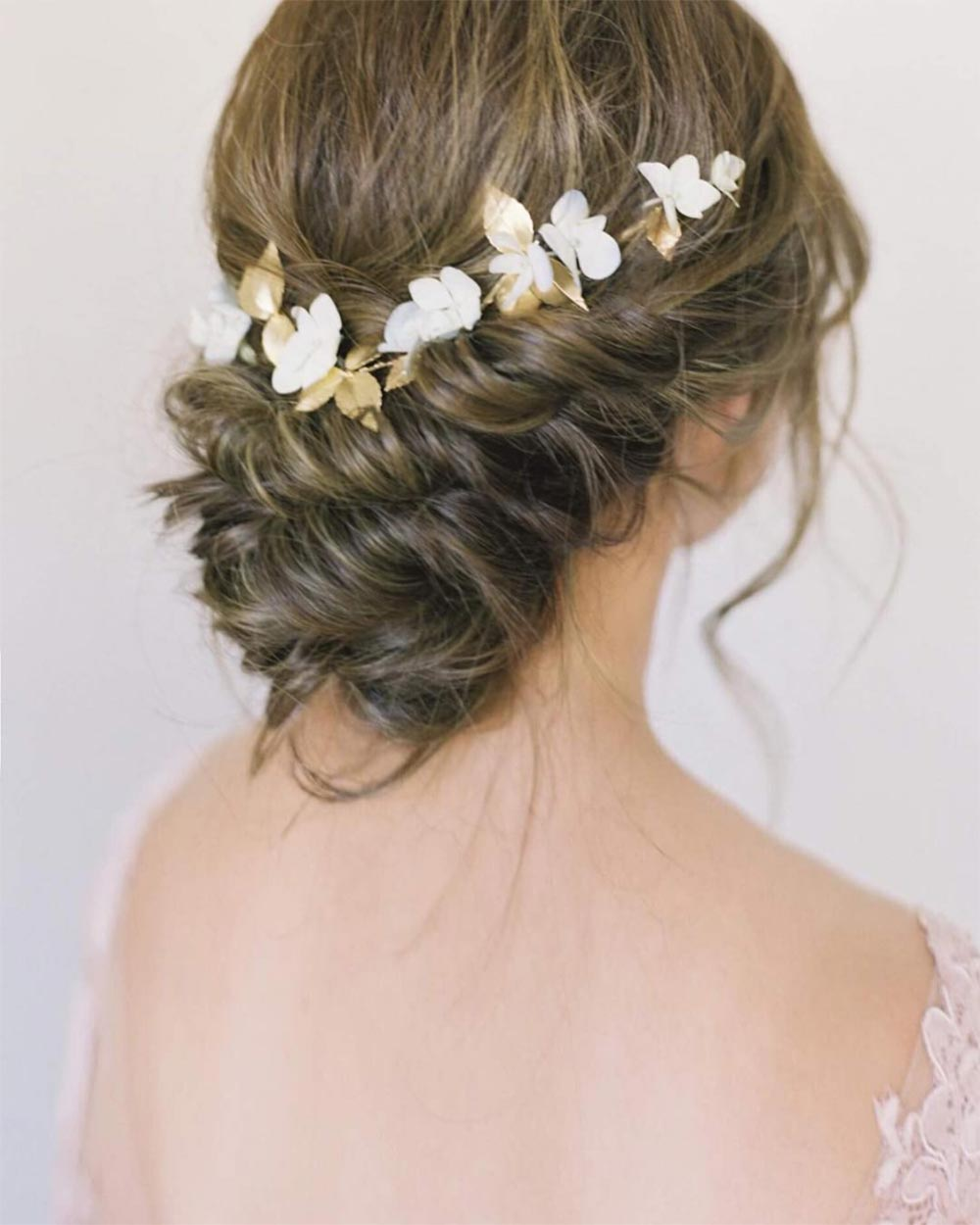 low bun bridal look