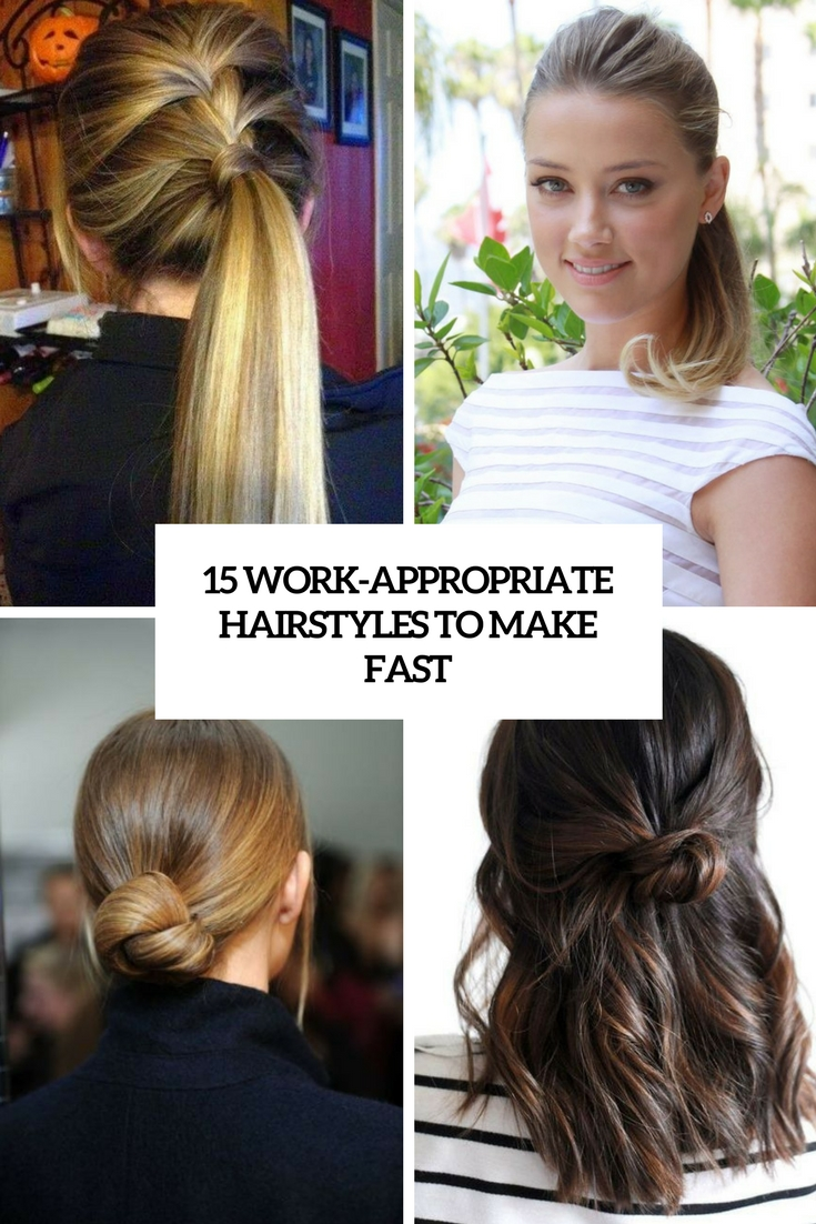 work appropriate hairstyles to make fast cover