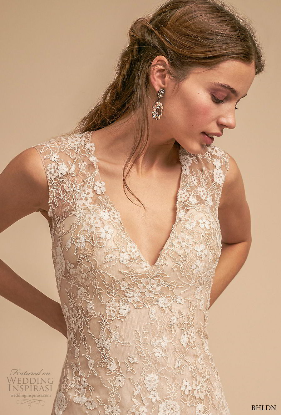 bhldn 2018 whispers bridal sleeveless thick strap v neck full embellishment romantic a line wedding dress keyhole back short train (12) zv