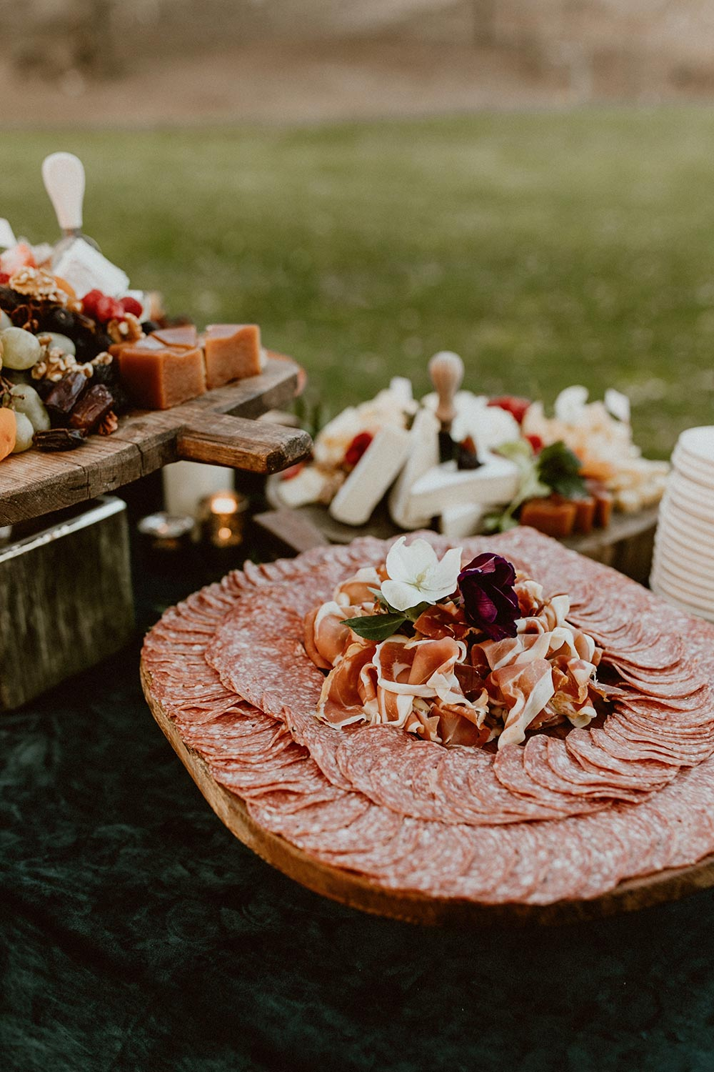 wedding charcuterie display