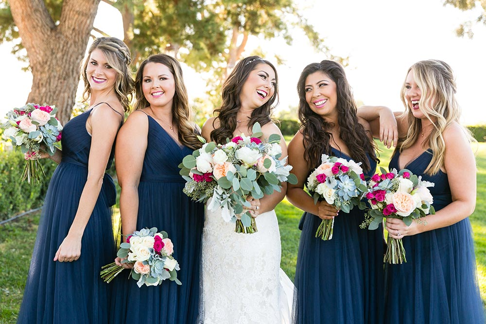 long navy bridesmaid dresses