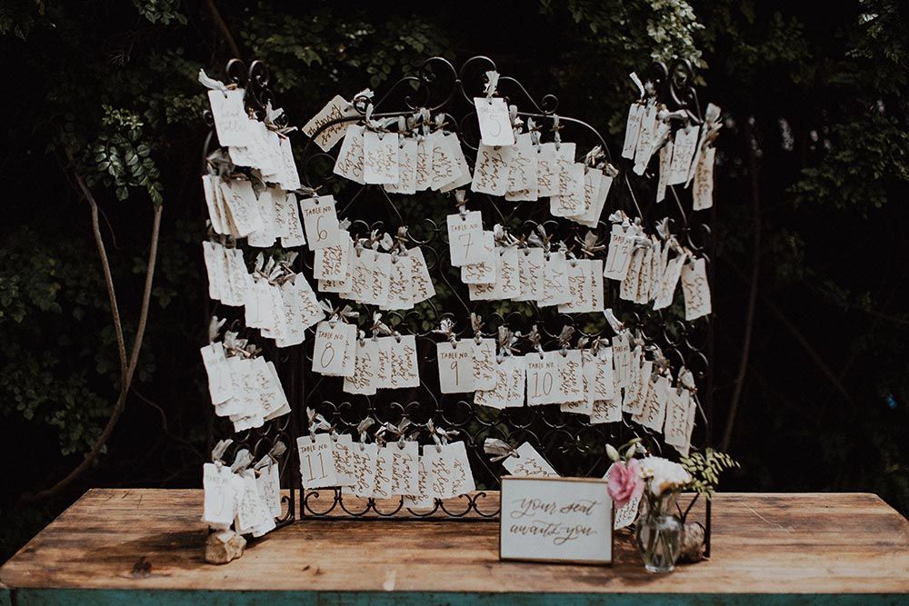 garden wedding seating chart