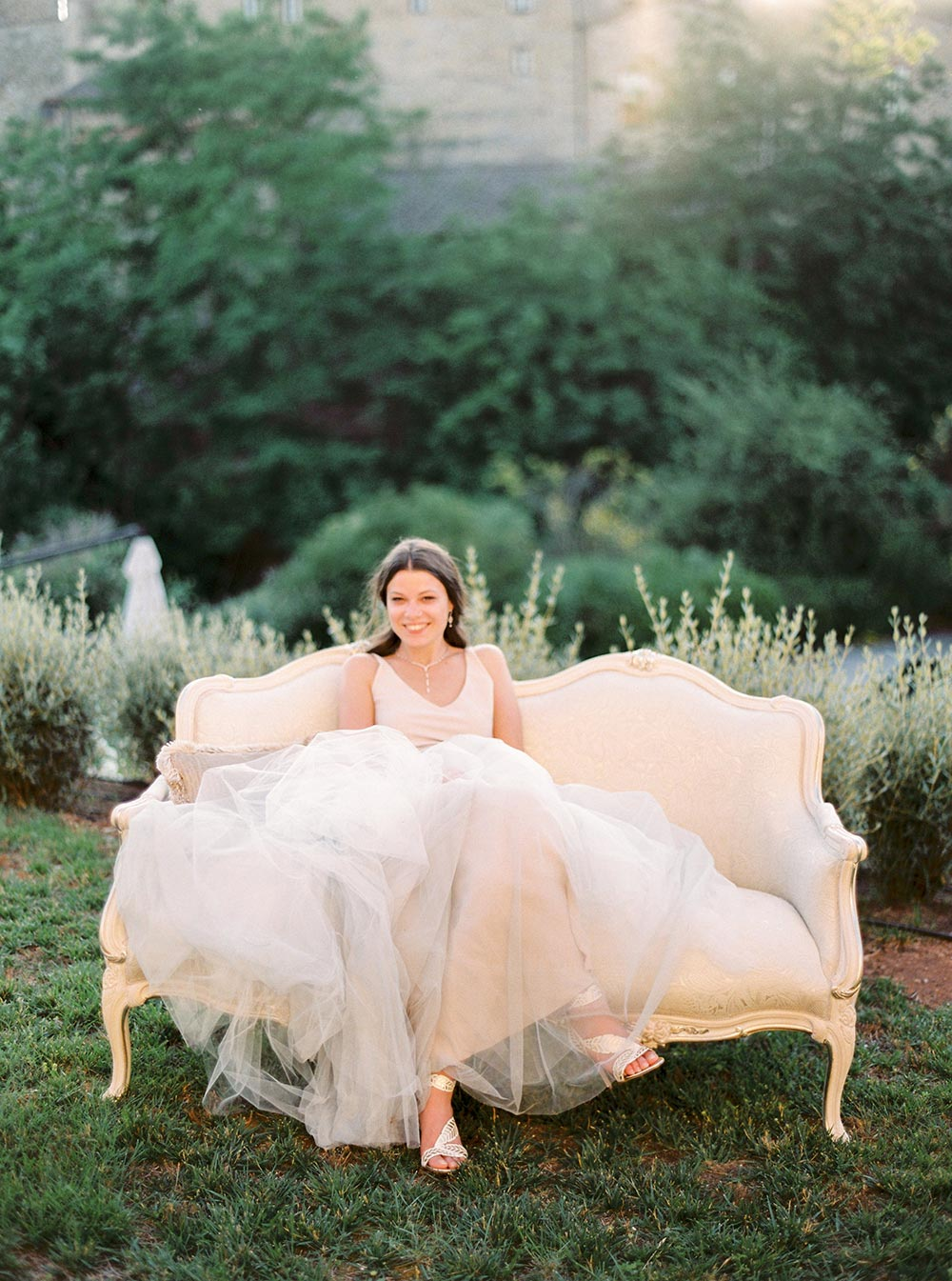 flowy wedding dress italian countryside wedding