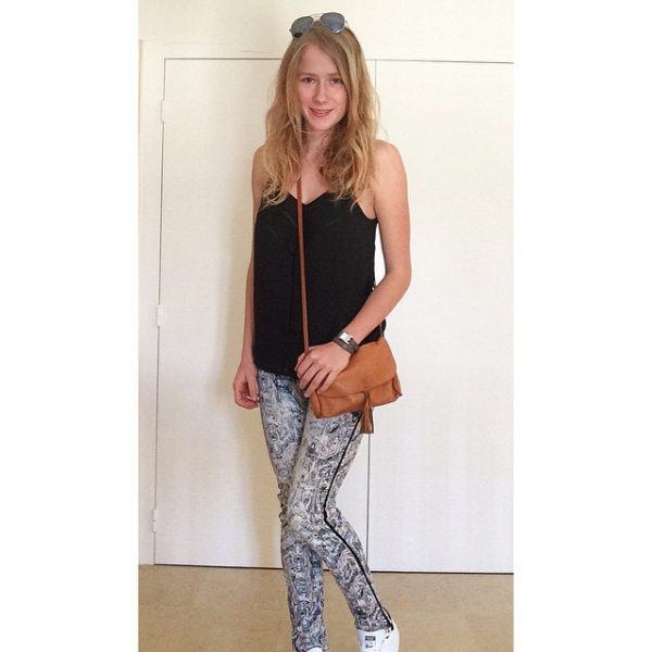 Printed-Skinny-Jeans-Outfit-600x600 Printed Pant Outfit-18 Ideas What to Wear With Printed Pants