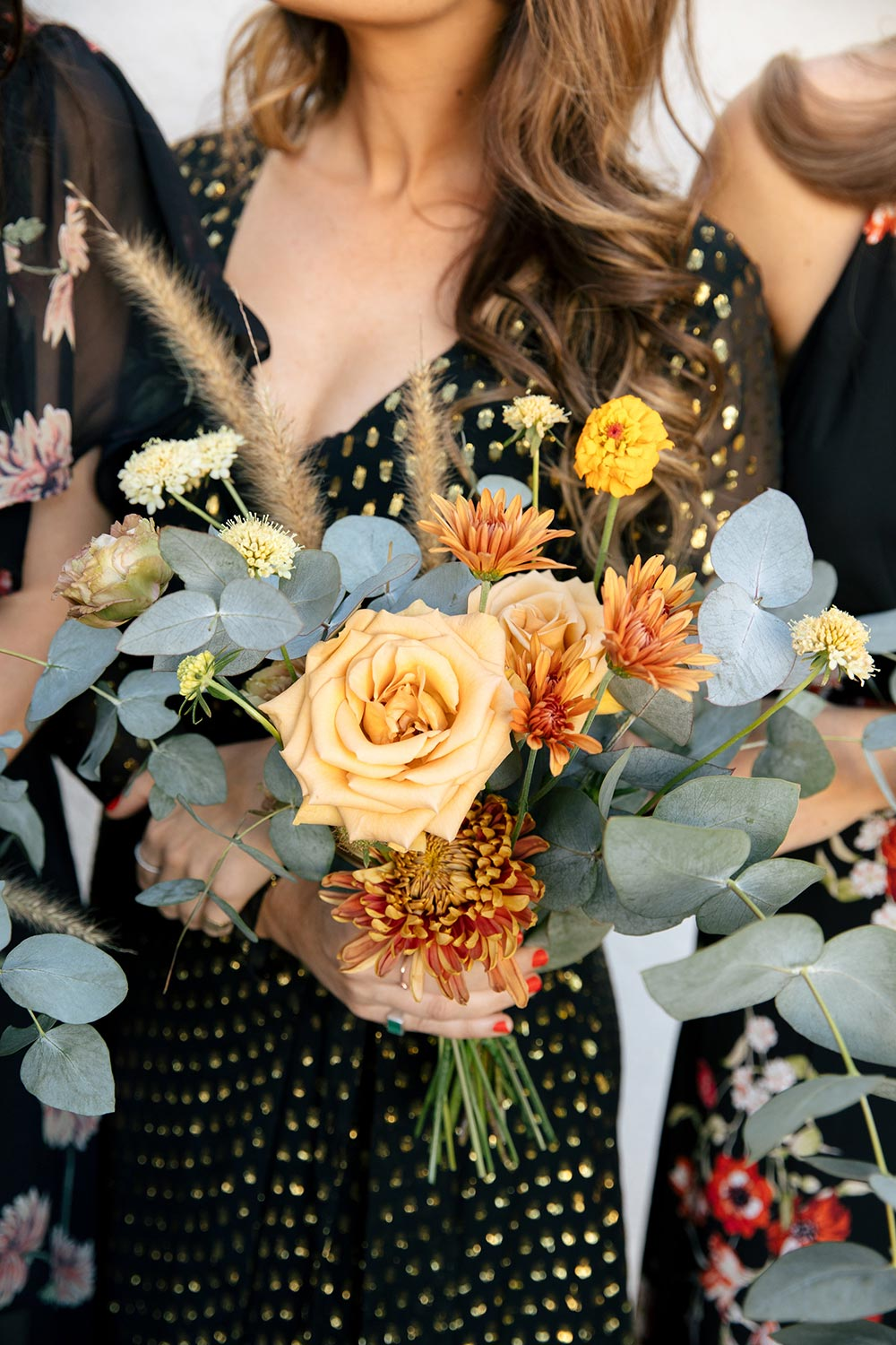 mixed shades of yellow wedding bouquet