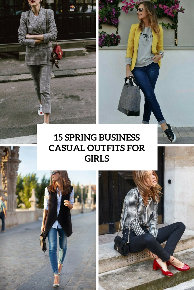 spring business casual outfits for girls cover