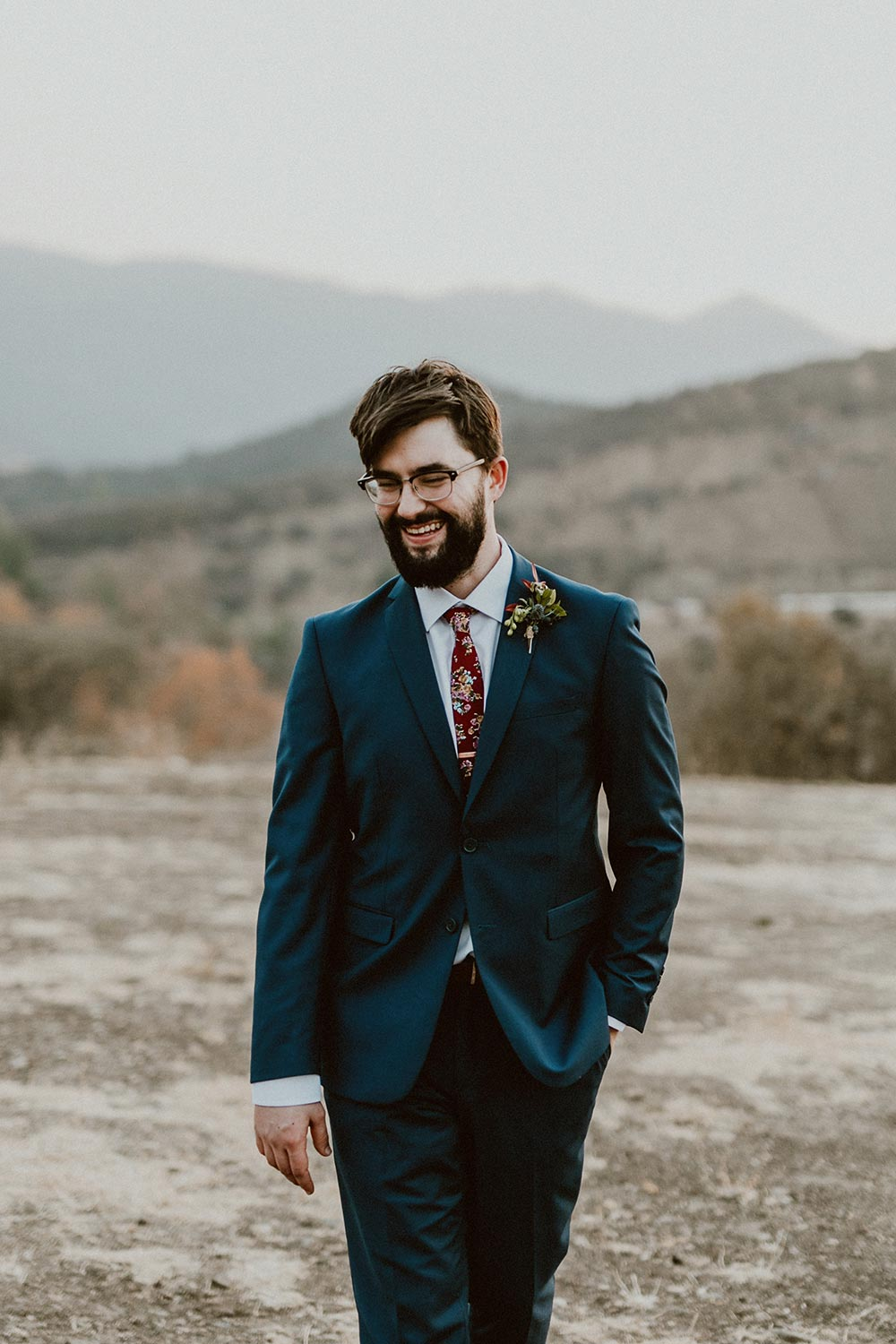 navy groom suit