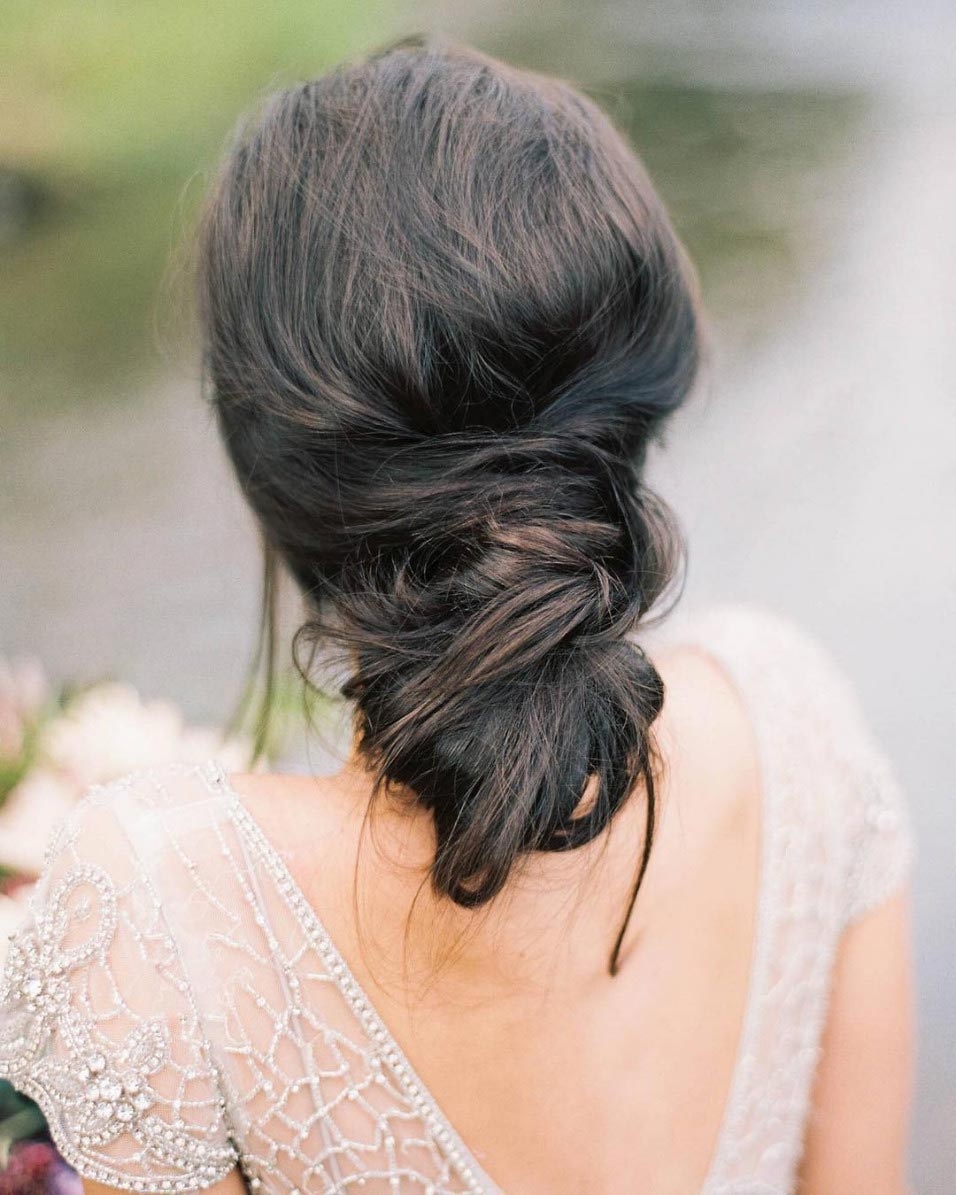 loose messy wedding updo