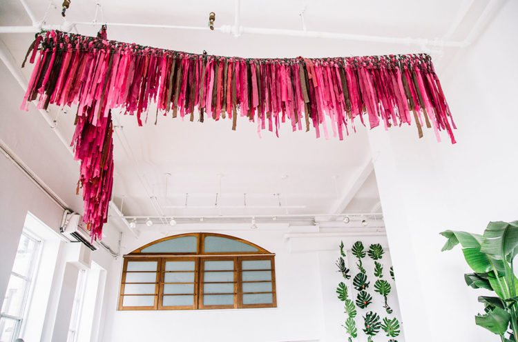 Bright fringe hanging here added a colorful touch to the space