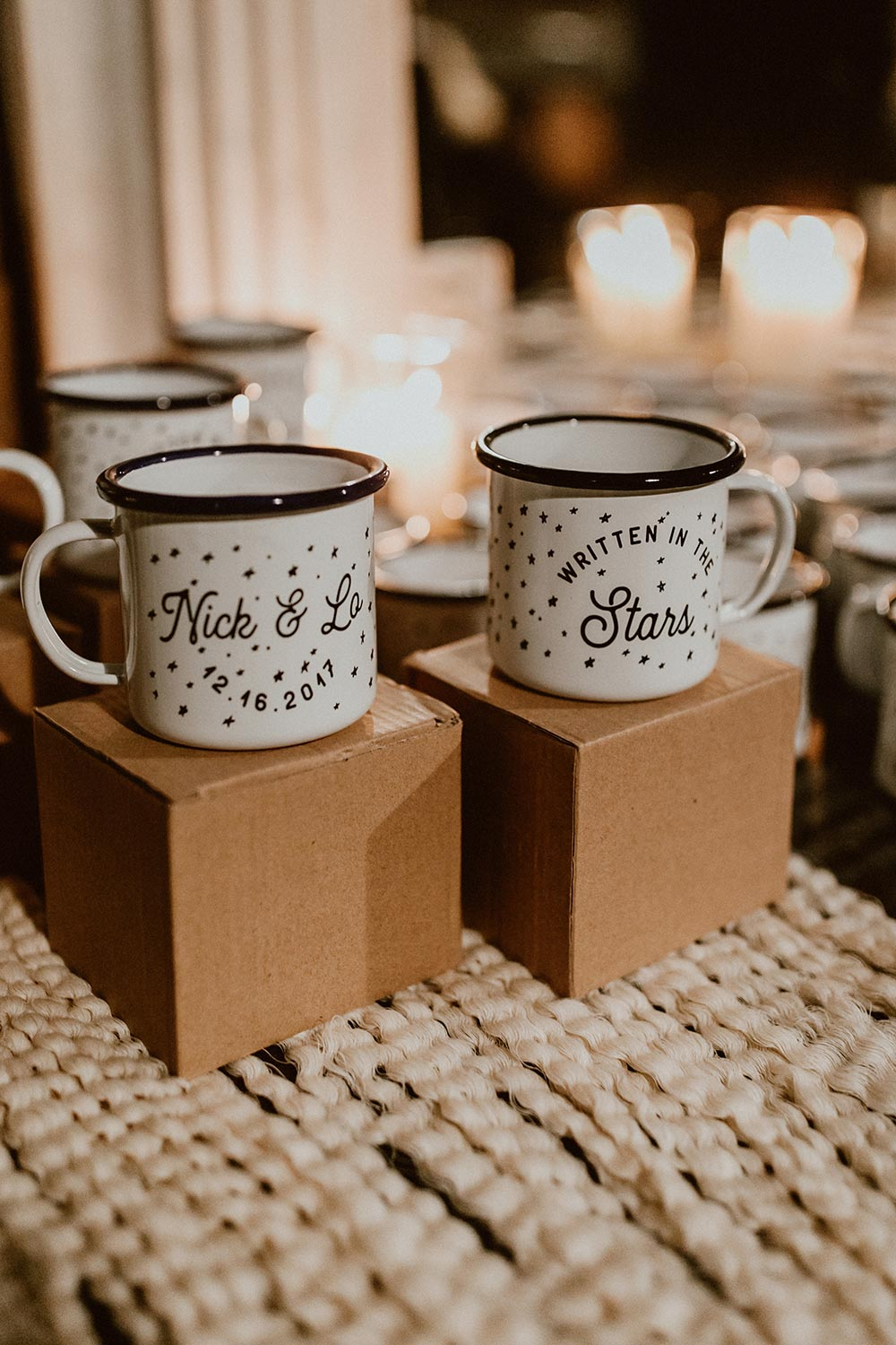 enamel mug wedding favors