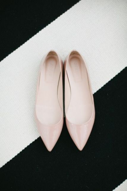 blush flats are a chic touch to the look and will add a touch of subtle color