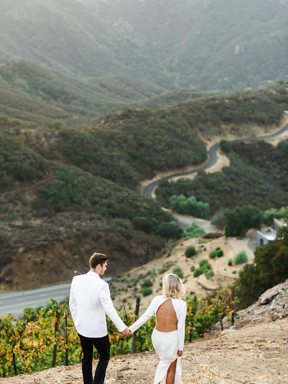 Malibu Hills wedding ceremony