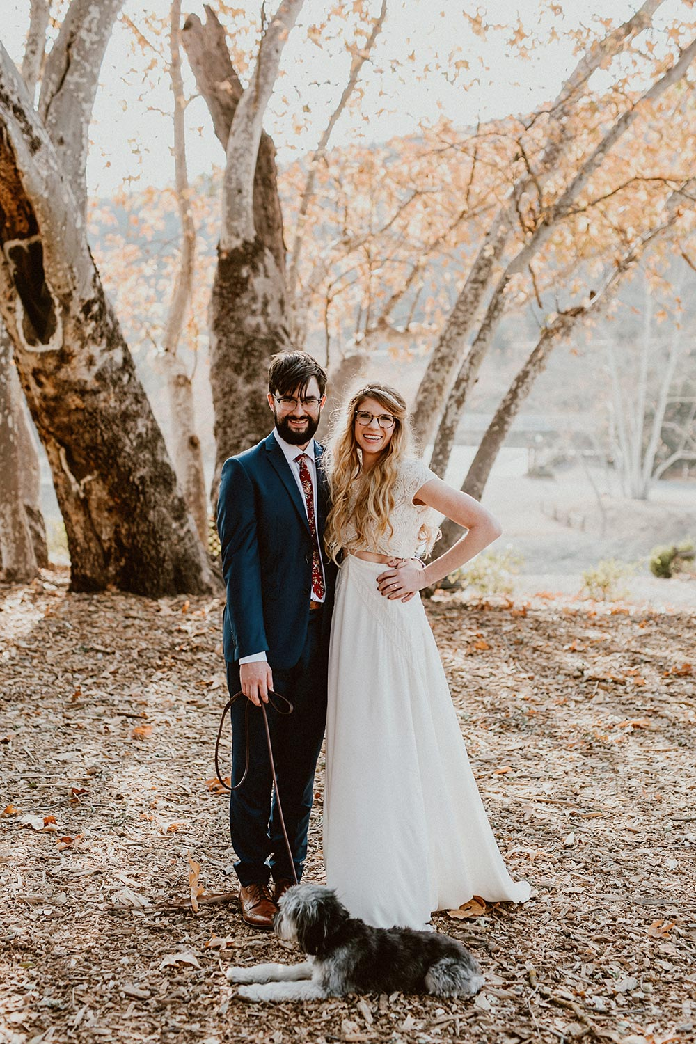 boho wedding dress bride and groom portraits
