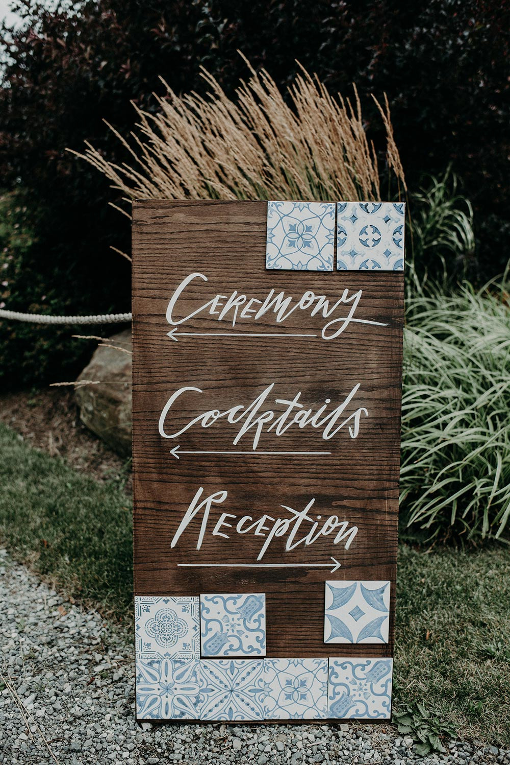 mediterranean inspired wedding signage