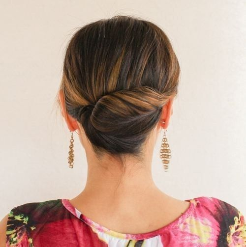 tight back twist updo is a comfy and non-boring hairstyle for a chic look