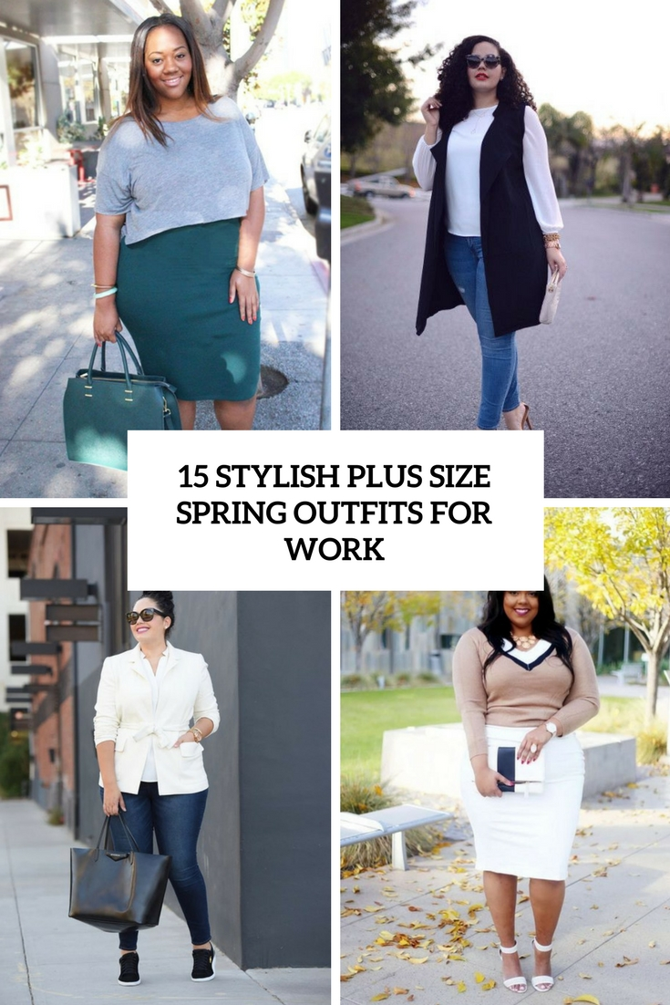stylish plus size spring outfits for work cover