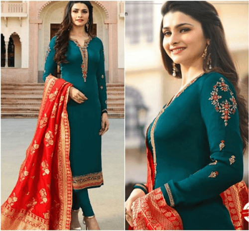 Churidaar-pajama-with-kurta-500x464 25 Best Women Kurta Pajama for Wedding Styles 2018