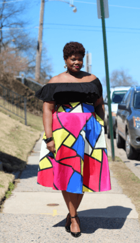 Bold-and-Vibrant-Outfit-288x500 23 Ways to Style Plus Size Off-the-Shoulder Tops for Women