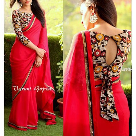 26-1 30 New Saree Blouse Designs 2018 You Must Try