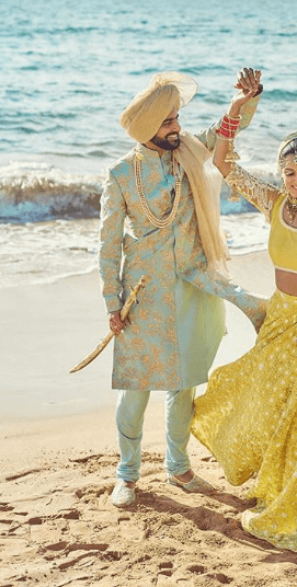 men-wedding-sherwanis 20 Latest Style Wedding Sherwani For Men and Styling Ideas