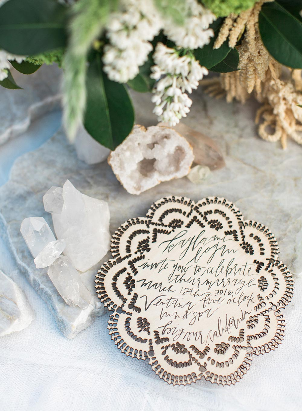 laser cut wedding invitations with scalloped edges