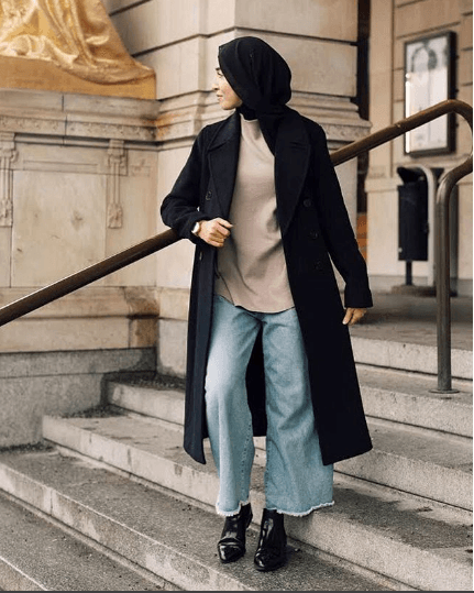 jeans-with-hijab-outfits 30 Stylish Ways to Wear Hijab with Jeans for Chic look