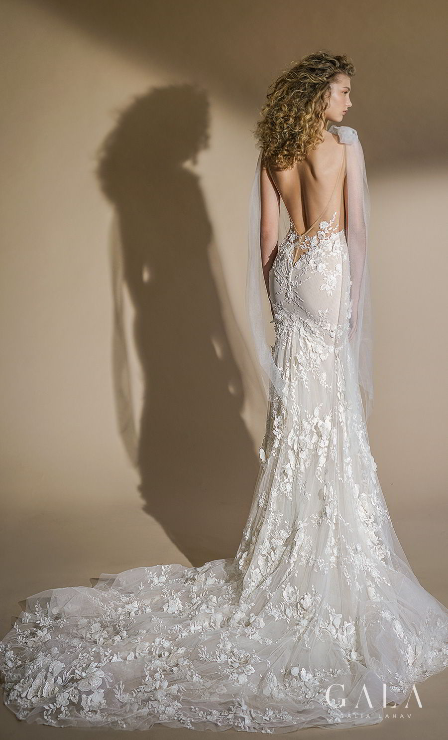 galia lahav gala 2019 bridal sleeveless with strap deep plunging v neck full embellishment sexy romantic trumpet mermaid wedding dress low open back chapel train (104) bv