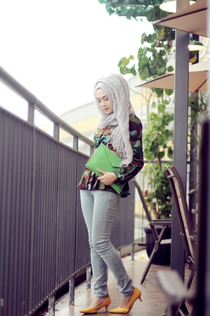 chic-style-hijab 30 Stylish Ways to Wear Hijab with Jeans for Chic look