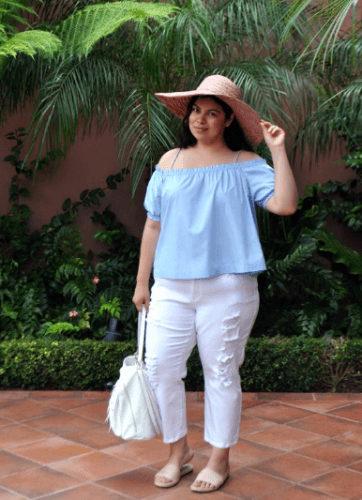 Summer-Outfit-362x500 23 Ways to Style Plus Size Off-the-Shoulder Tops for Women