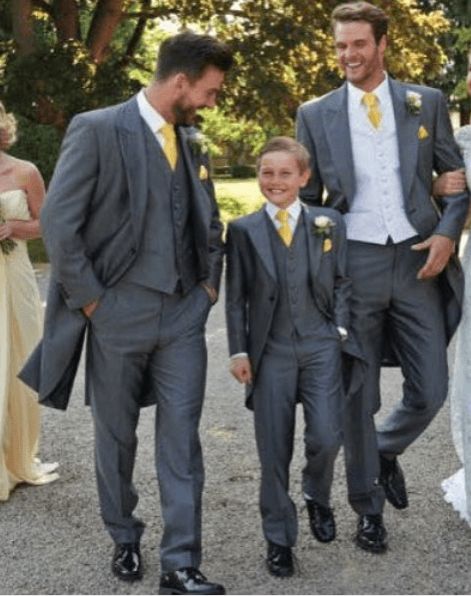 Black-Shoes-for-Groomsmen 30 Best Charcoal Grey Suits with Black Shoes For Men